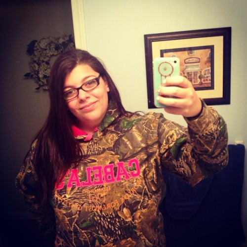 @christinacef got me a Cabela's sweatshirt for my birthday ❤