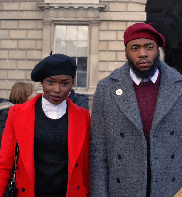 alwaysalwaysalwaysthesea:  London street style.  I love berets. (via The Style Scout)