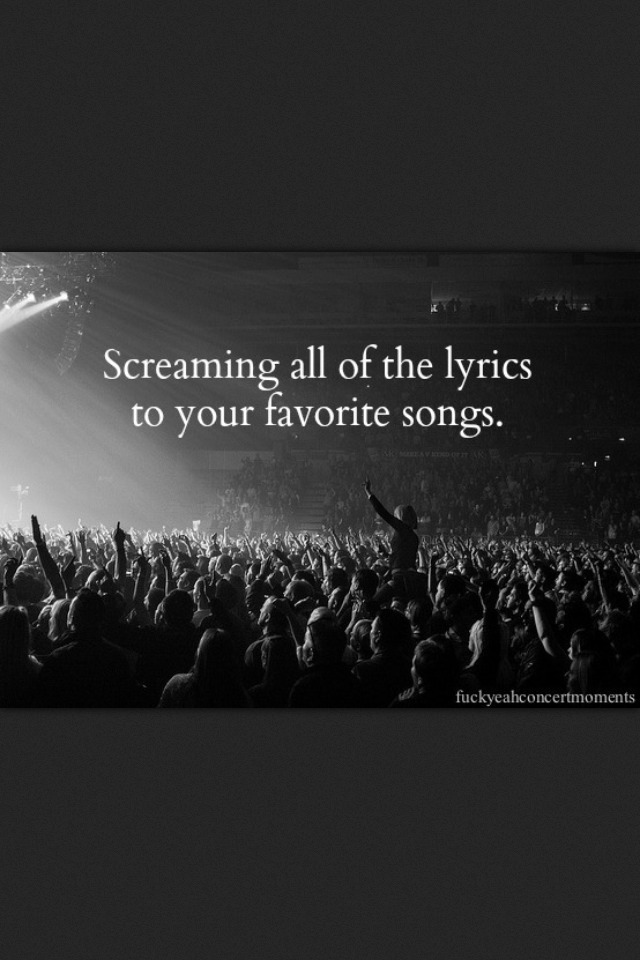 Because we don't sing, we scream our favorites bands songs #MusicArt