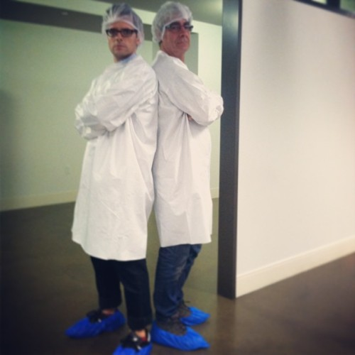 DP David Bridges and I #film #cinematographer #labcoat #nerds #doctor #detroit #michigan #commercial  (at Shinola)