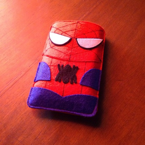 Spiderman phone pouch! #nofilter