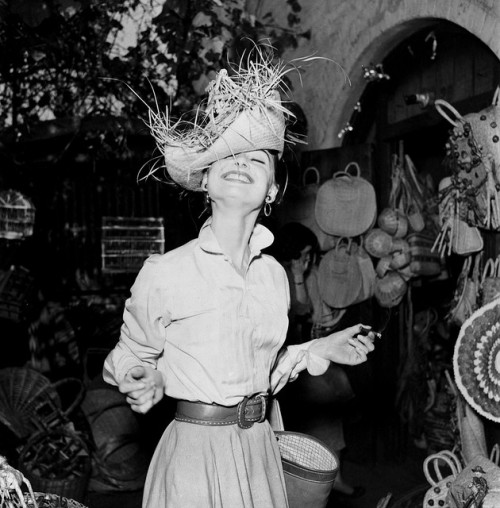 Audrey shopping in a Mexican market in Los Angeles by Earl Theisen