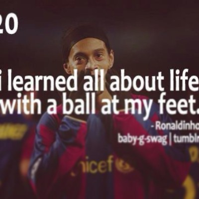 This literally explains me #Ronaldinho #RoleModel #MyLife #Football #Soccer #RB2 ⚽⚽⚽🙏