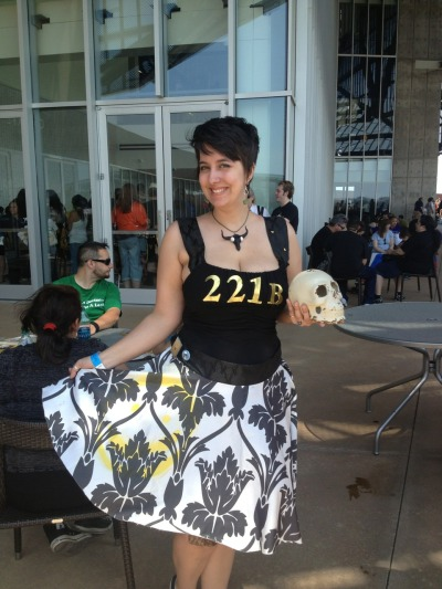 doctor-donna-detective:  takadasaiko:  She went to the Con as 221 B Baker St.  omg that's brilliant I want that dress