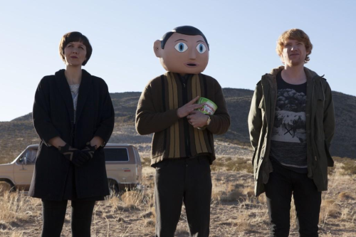 MICHAEL FASSBENDER DONS FAKE HEAD IN 1st OFFICIAL PHOTO FROM 'FRANK' Source