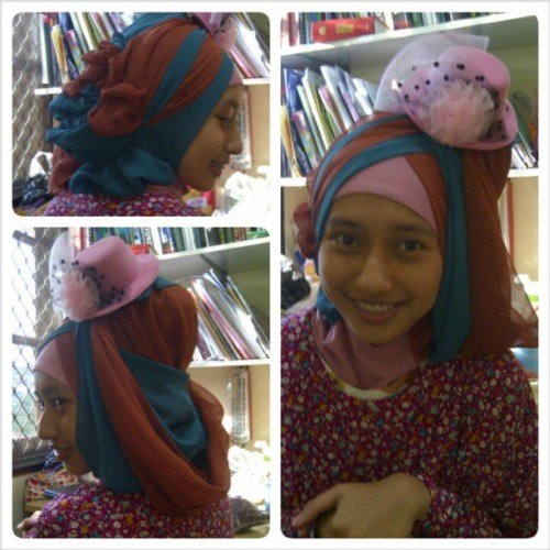 Model : @namnifolian ; jilbab creative by : @abidahemas :3 #ilovehijab #casual #trendy #modern #hijab #colors