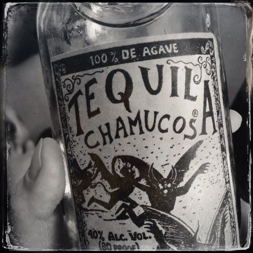 Tacos are ate, now for some of the good stuff. #noirstagram #cincodemayo #tequila #chamucos #reposado