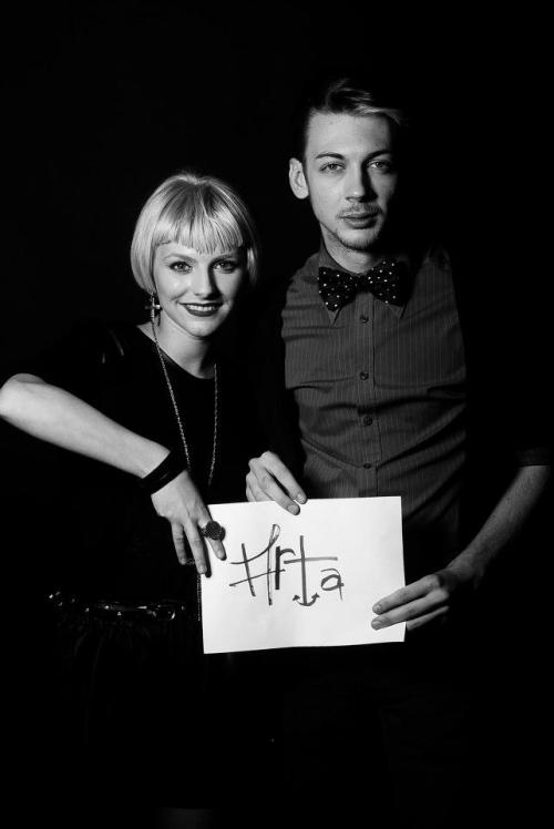 "Me and Marta Popescu at her own photo project ""I Love…"". P.S. - I love (M)Art(a)"