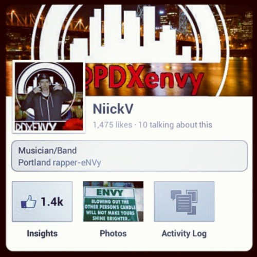 Go like my facebook music page, stay updated with all my shows, songs, mixtapes etc. #LikeUp #TeamEnvy #Northwest #PDX