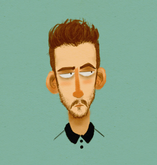 Made a new brush in photoshop and painted my sullen face because it's 3am and there is an overwhelming scarcity of imagination in my tired brain at this hour.