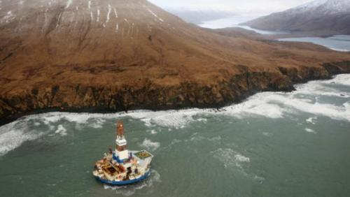 Arctic Drilling: Shell Oil Tows Rogue Rig Kulluk That Ran Aground to Kodiak Island for Damage Assessment After being stranded for days by stormy seas on the remote Alaskan island where it had run aground, the Shell oil rig named Kulluk was being towed on January 7 to a bay off Kodiak Island for damage assessment.