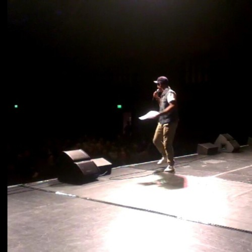 Onstage hosting the UK hip-hop dance championships last night. Big props to everyone that attended this hotly contested event! #HiphopLives #hiphop #uk #dance #scene #london #instadance #MantisGoesForth #tinmantis #hosts #nofilter (courtesy of @the_tda)