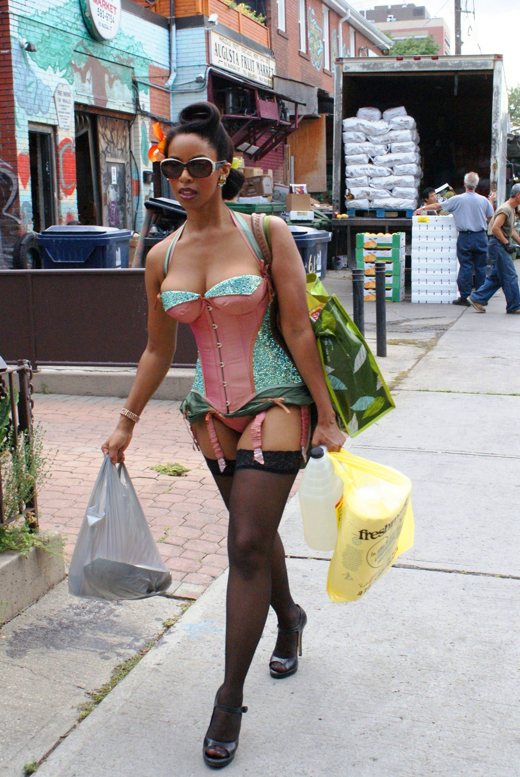 whyiloveblackgirls:  big-mr:  I guess its just another day doing the shopping.  http://www.whyiloveblackgirls.tumblr.com/archive