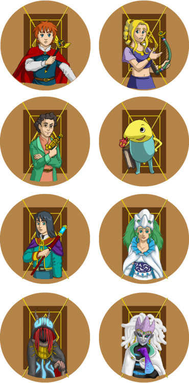 The full set of Ni No Kuni buttons!  Now, only the first four will be available at Anime Boston, but if they are popular, the rest might make an appearance.
