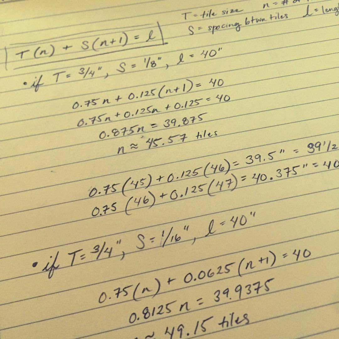 Using algebra to make art. 🤓#CommonGroundNYC (at New York, New York)