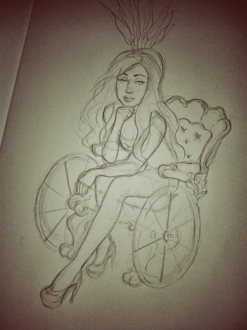Super rough!! Another 'get well soon' Gaga sketch, Recovering in style