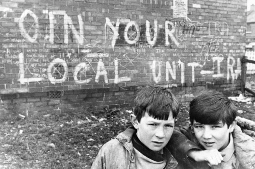 "scottishwinds:  30 March 1972, Belfast, Northern Ireland, UK. ""Join your local unit-IRA""."