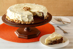 foodopia:  carrot cake cheesecake: recipe here