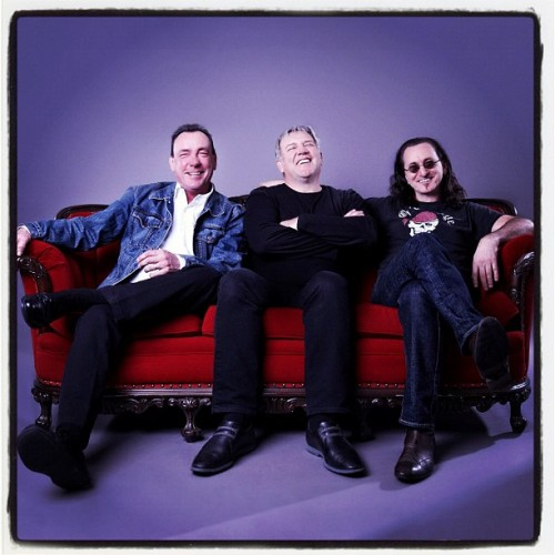 "After an epic 40-plus year career, #Rush is set to be inducted into the Rock & Roll Hall of Fame on April 18 in Los Angeles. ""It's a terrific honor and we'll show up smiling,"" Geddy Lee says. Read the full list of inductees at RollingStone.com. #RockAndRollHallOfFame #RockHall2013 Photo: Andrew MacNaughtan (via Instagram)"
