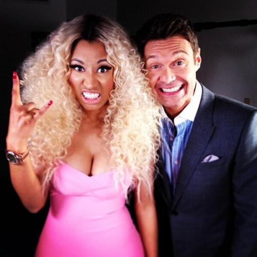 @NICKIMINAJ and @RyanSeacrest after idol!