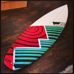 New @estrats shred stick all painted and ready! #fyasko #surf @drewbrophy