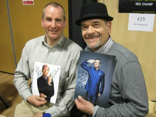 christopherjonesart:  OMG - the holograms have met: Chris Barrie from Red Dwarf and Robert Picardo from Star Trek: Voyager. Where's Dean Stockwell?