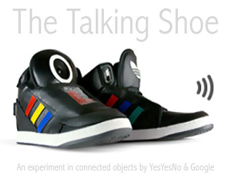 The Talking Shoe by Google