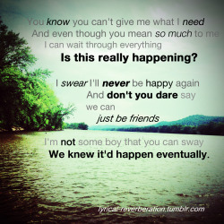 lyrical-reverberation:  If It Means A Lot to You - A Day To Remember