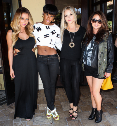 #whenthechecksstopcominginDanity Kane is planning to reunite…without Diddy [smart move]. Four original members of the group, Aubrey O'Day, Shannon Bex, Dawn Richard, and Aundrea Fimbres, grabbed lunch today in L.A. with a new manager to discuss the reunion. Read more here… [privately; where's D. Woods?]