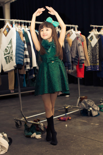 The prettiest Ballerina out there in Miss Blumarine Fashion ! Foto by Paula Lizarraga
