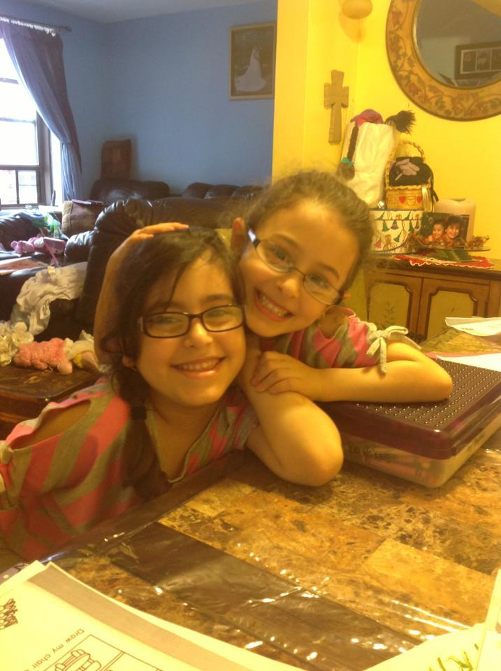 My nieces got glasses today. The cuteness is too much!