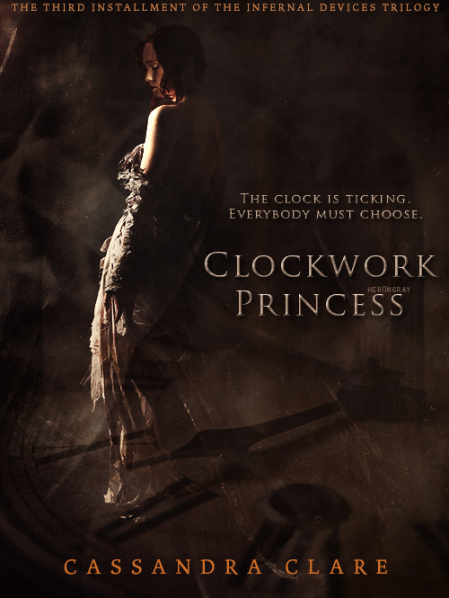 her0ngray:  Fanmade Clockwork Princess cover (x)