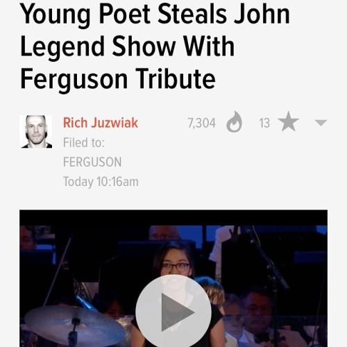 If y'all have a moment…and want to feel a punch in the gut & inspired, please watch this young ladies poem. Definitely have a lump in my throat. Girl.Power. And props to John Legend for allowing her to share what is stirring in her heart with the audience.