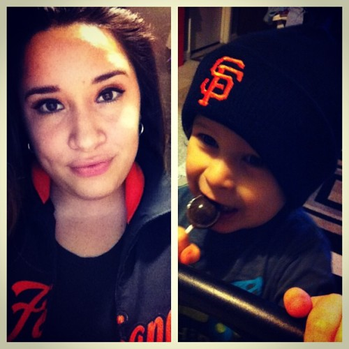 #me and my #baby #boy #giants gear! Taking him to a game this year! ⚾🌉👶