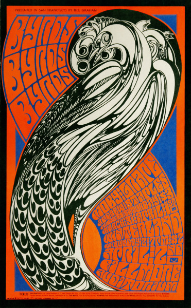 psychedelic-sixties:  The Byrds | Moby Grape | Andrew Staples -  Fillmore Auditorium April 2, 1967 - Winterland March 31 & April 2, 1967 (San Francisco, CA) Artist Wes Wilson