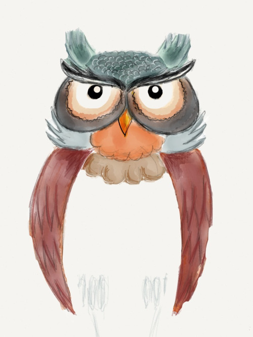 • Owl •  Drawn using paper for iOS Project for a tattoo.