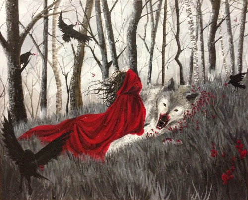 noctillucca:  Little Red Riding Hood Inspirational music: this , this and this. - The Little Mermaid - Beauty and the Beast  - Sleeping Beauty - Alice's Adventures in Wonderland - Snow White and Rose Red