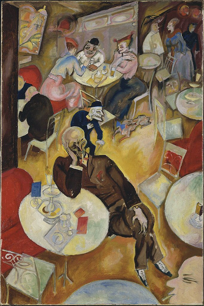 greatonemorethingtoremember:  Cafe (1915) George Grosz