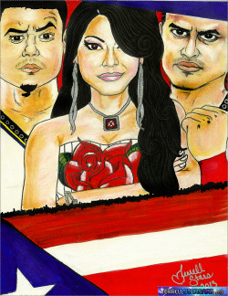terrellstarsart:  TerrellStarsArt: Rosa Mendes, Primo y Epico WWE  Charcoals, Markers, Pastels, Silver Autograph pen  This turned out great! Can't wait for them to be back on TV (hopefully very soon)!  Always Promote Terrell ☆https://twitter.com/terrellstarsarthttp://terrellstars.tumblr.com/http://starsofterrell.com (coming soon)