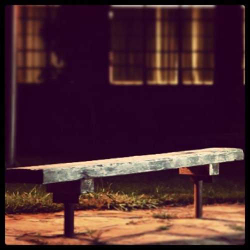 It's just a simple walk in the park. #bench