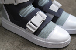 designbinge:  ADIDAS High Top Buckle - Blue | Sneaker | Kith NYC