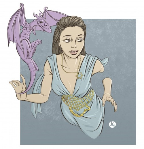 Kitty Pryde as Daenerys Targaryen by Josh Gowdy From CBR's The Line it is Drawn