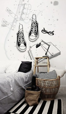 Black and White Minimalist Decals by PIXERS