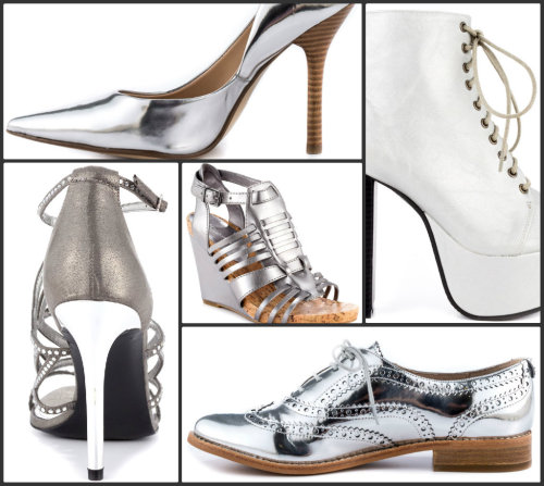 Color Coordinate: Silver Shoes