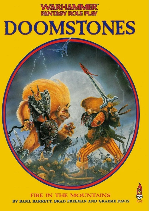 WFRP Supplement Doomstones 1 - Fire in the Mountains. John Blanche, 1989.