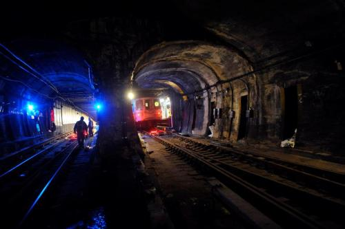 nycgov:  On Friday, R trains resumed service through the Montague Tube, which connects Brooklyn Heights with Lower Manhattan after more than a month of around-the-clock work in one of the most storm-ravaged sections of the MTA transit system.  Photo Credit: MTA New York City Transit / Marc Hermann