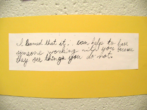 Flashback Monday - student statement from our 2004-2005 student exhibition