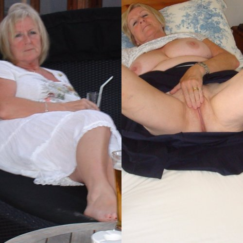 Mature dressed and undressed Go on Nigela, get those fingers in - deep, deep in that lovely cunt!