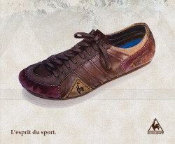 Le Coq Sportif Vintage painting (acrylics), advertising