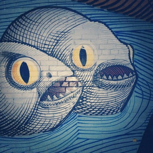 I had a nightmare. #fish #graffiti #art #walk #animals #illustration #design #instagood